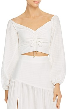 SUBOO Cruz Back-Tie Crop Top