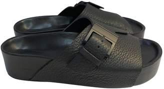 Simon Miller Black Leather Flats