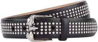 Alexander McQueen Leather Twin Skull Belt