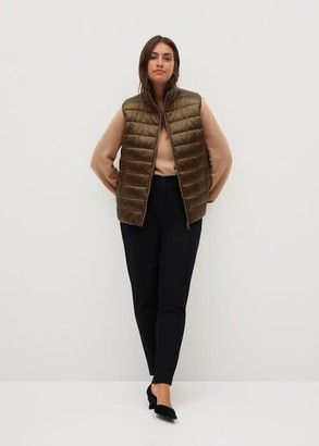 MANGO Pocketed quilted gilet