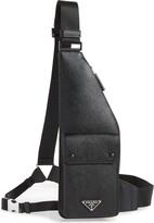 Prada Travel Saffiano Leather Crossbody Bag