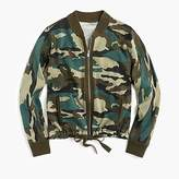 J.Crew Knit bomber in camo