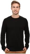Calvin Klein Cotton Acrylic & Faux Suede Zip Sweater