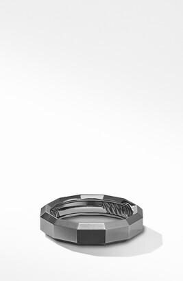 David Yurman Faceted Band Ring in Titanium