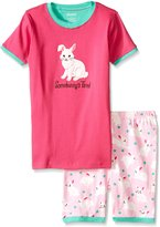 Hatley Little Girls Spring Bunnies Short Pajama Set