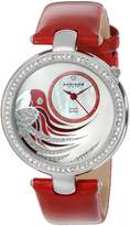 Akribos XXIV Women's AK602RD Lady Diamond Parrot Dial Swiss Quartz Leather Strap Watch