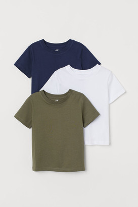 H&M 3-pack T-shirts - Green