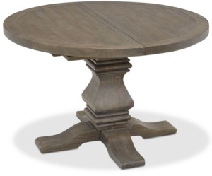 Furniture Tristan Round Expandable Dining Table, Created for Macy's