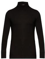 Bottega Veneta Roll-neck Cotton-jersey Top