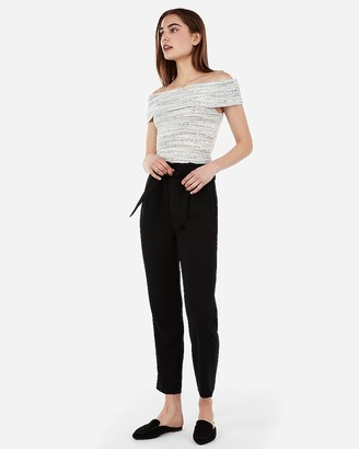 Express Ribbed Off The Shoulder Tee