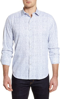 Bugatchi Classic Fit Performance Button-Up Shirt