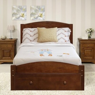 Rosecliff Heights Doland Twin Platform Bed with Drawers Color: Walnut