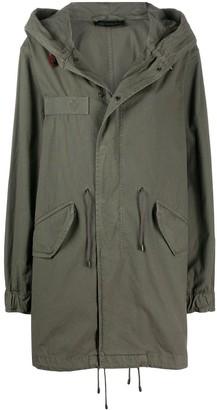Mr & Mrs Italy Drawstring Detail Hooded Parka Coat