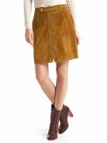 Gap Suede zip skirt