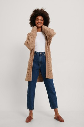 NA-KD Cable Knit Belted Cardigan