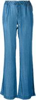 MICHAEL Michael Kors drawstring bellbottoms - women - Lyocell - 8
