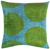 Found Object Hand-Woven Ikat Square Pillow