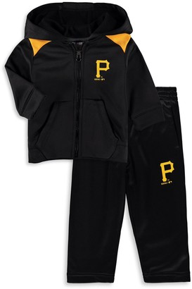 Majestic Infant Black Pittsburgh Pirates Play Action Full-Zip Hoodie & Pants Set