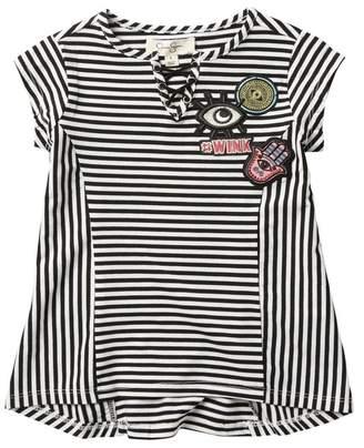 Jessica Simpson Short Sleeve Striped Tee (Little Girls)