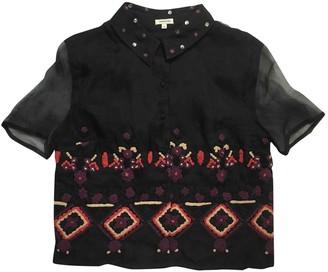 Manoush Black Silk Top for Women