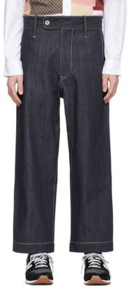 Junya Watanabe Indigo White Stitch Jeans