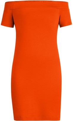New York & Co. Cotton Off-The-Shoulder Shift Dress