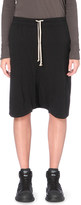 Drkshdw Dropped-crotch cotton-jersey shorts