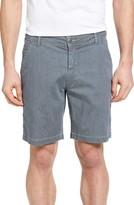 Jeremiah Men's Bryant Stripe Bleached Denim Shorts