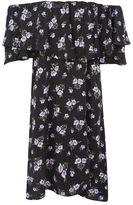 Topshop Lilac berry bardot dress
