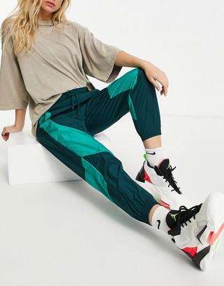 Jordan Nike Statement Essentials woven cuffed sweatpants in teal