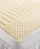 Home Design Closeout! 5 Zone Memory Foam Twin Xl Mattress Topper Bedding