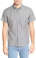 Billy Reid Tuscumbia Standard Fit Short Sleeve Jacquard Printed Shirt
