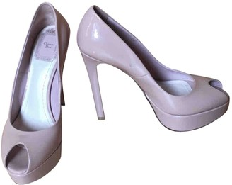 Christian Dior Miss Peep Toes Pink Patent leather Heels