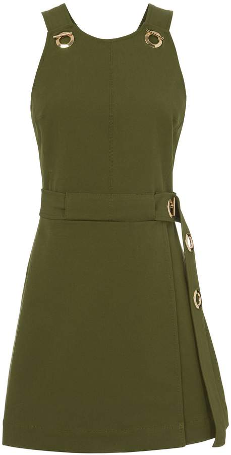 Derek Lam 10 Crosby Grommet Detail Twill Dress