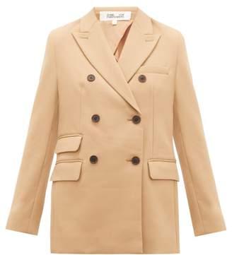 Diane von Furstenberg Atlas Crepe Jacket - Womens - Camel