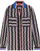 Missoni Wool-blend Crochet-knit Shirt - Pink