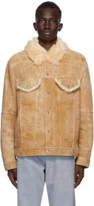 Helmut Lang Brown Suede Masc Trucker Jacket