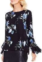 Vince Camuto Windswept Bouquet Print Bell Sleeve Blouse