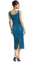 R & M Richards R&M Richards Sleeveless Sequined Lace Dress and Jacket