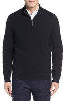 John W. Nordstrom Men's Quarter Zip Cashmere Sweater