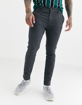 Burton Menswear skinny chinos in light grey