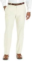 Kenneth Cole Reaction Men's Light Beige Straight Fit Herringbone Dress Pant