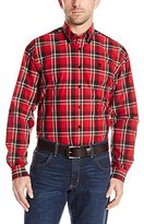 Cinch Men's Classic Fit Long Sleeve Button Down One Open Pocket Plaid Shirt