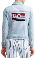 Ev1 From Ellen Degeneres EV1 from Ellen DeGeneres love flag bleached denim jacket women's