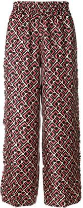 La DoubleJ Domino Rosa ruffle trousers