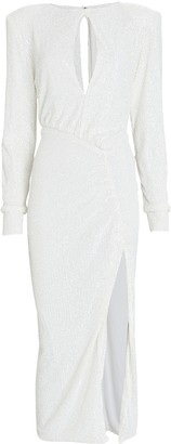 Nonchalant The Label Lena Sequined Midi Dress