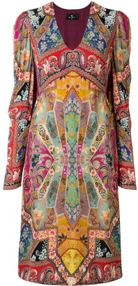 Etro Patchwork-Print Midi Dress