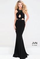 Jovani Halter Beaded Neckline Jersey Mermaid Dress JVN41543
