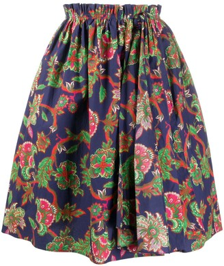 Givenchy Floral Print Puffed Skirt