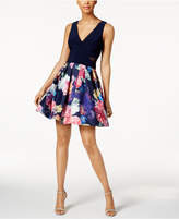Xscape Evenings Petite Floral-Print Fit and Flare Dress